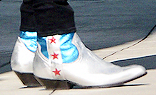 Harry Styles Wearing White Rodeo Boots